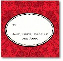 Boatman Geller Gift Stickers - Red Damask