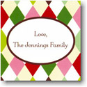 Boatman Geller Holiday Gift Stickers - Harlequin Festive