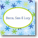 Boatman Geller Holiday Gift Stickers - Snowflake Light Blue
