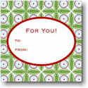 Boatman Geller Holiday Gift Stickers - Tile Red And Green