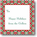 Boatman Geller Holiday Gift Stickers - Ornamental Red