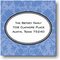 Boatman Geller Holiday Gift Stickers - Damask Blue