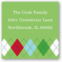 Boatman Geller Holiday Gift Stickers - Argyle Green and Red