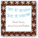 Boatman Geller Holiday Gift Stickers - Banner Let it Snow