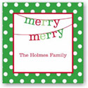 Boatman Geller Holiday Gift Stickers - Banner Merry Merry