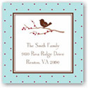 Boatman Geller Holiday Gift Stickers - Bird on Branch Holiday