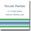 Boatman Geller Gift Stickers - Grosgrain Blue & Green