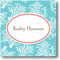 Boatman Geller Holiday Gift Stickers - Coral Repeat Teal