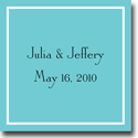 Boatman Geller Gift Stickers - Classic Square Teal