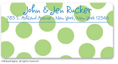Dinky Designs Holiday Calling Card Stickers - Lime Holiday Dots [Sunnydale]