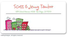 Dinky Designs Holiday Calling Card Stickers - Urban Living - Holiday [Sunnydale]