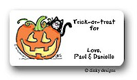 Dinky Designs Gift Stickers - Jack O'Lantern (313J)