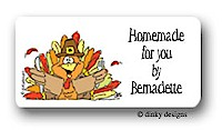 Dinky Designs Gift Stickers - Thomas Turkey