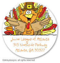 Dinky Designs Holiday Large Round Stickers - Thomas Turkey [Sunnydale]