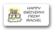 Dinky Designs Gift Stickers - Birthday Cake (100B)