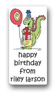 Dinky Designs Gift Stickers - Dino With Balloon