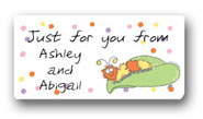 Dinky Designs Gift Stickers - Fuzzy Caterpillar