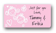 Dinky Designs Gift Stickers - Girls With Hearts