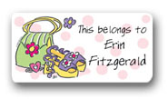 Dinky Designs Gift Stickers - Girly Purse & Shoes