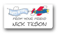Dinky Designs Gift Stickers - Plane With Birthday Banner