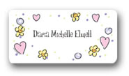 Dinky Designs Gift Stickers - Pretty Pinks & Purples (121P)
