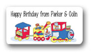 Dinky Designs Gift Stickers - Train With Bears