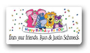 Dinky Designs Gift Stickers - Zebra & Pals (106Z)