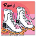 Dinky Designs Gift Stickers - Roller Girl (Square)