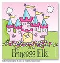 Dinky Designs Gift Stickers - Pretty Princess (Square)
