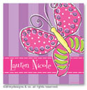 Dinky Designs Gift Stickers - Purple Polka Dotted Butterfly (Square)