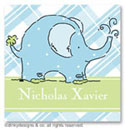 Dinky Designs Gift Stickers - Baby Blue Elephant (Square)