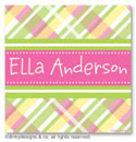 Dinky Designs Gift Stickers - Addie Plaidie (Square) (SQ1-878A)