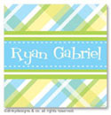 Dinky Designs Gift Stickers - Taylor Plaid (Square) (SQ1-879T)