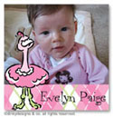 Dinky Designs Gift Stickers - Argyle Ostrich With Photo (Square) (SQ1PW-780A)