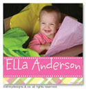 Dinky Designs Gift Stickers - Addie Plaidie With Photo (Square) (SQ1PW-878A)
