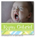 Dinky Designs Gift Stickers - Taylor Plaid With Photo (Square) (SQ1PW-879T)