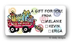 Dinky Designs Gift Stickers - Wagon Full of Gifts Check Box