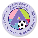 Name Doodles - Round Address Labels/Stickers (Sporty Soccer Lilac - Camp)