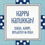 Picture Perfect Hanukkah Stickers - All Wrapped Up Blue