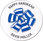 Picture Perfect Hanukkah Stickers - Blue Bow Tie