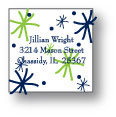 Polka Dot Pear Design - Small Square Stickers (237ss)