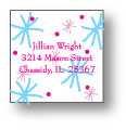 Polka Dot Pear Design - Small Square Stickers (238ss)