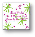 Polka Dot Pear Design - Small Square Stickers (240ss)