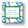 Polka Dot Pear Design - Small Square Stickers (245ss)