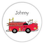 Chatsworth Robin Maguire - Gift Stickers (Fire Engine) (DS-14-280)