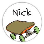Chatsworth Robin Maguire - Gift Stickers (Skateboarder) (DS-14-431)