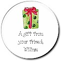 Sugar Cookie Holiday Gift Stickers - Present