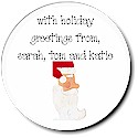Sugar Cookie Holiday Gift Stickers - Kris Kringle
