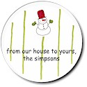 Sugar Cookie Holiday Gift Stickers - Snowdude