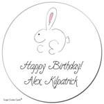 Sugar Cookie Gift Stickers - Baby Bunny
